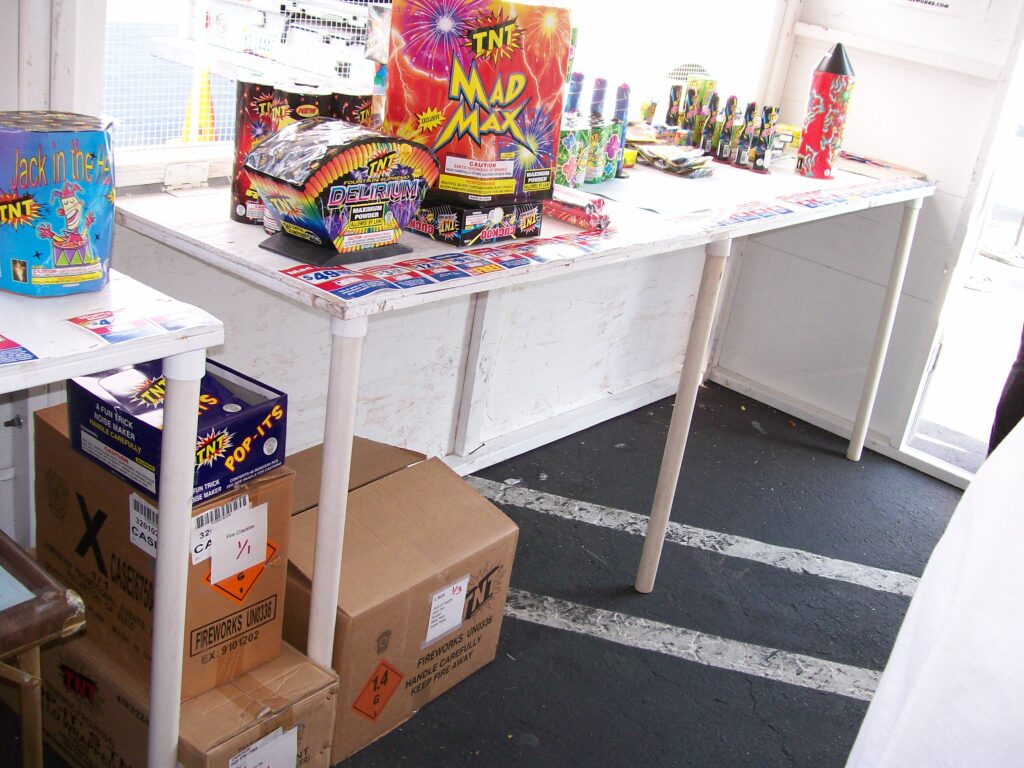 photo of our organized booth (2008)