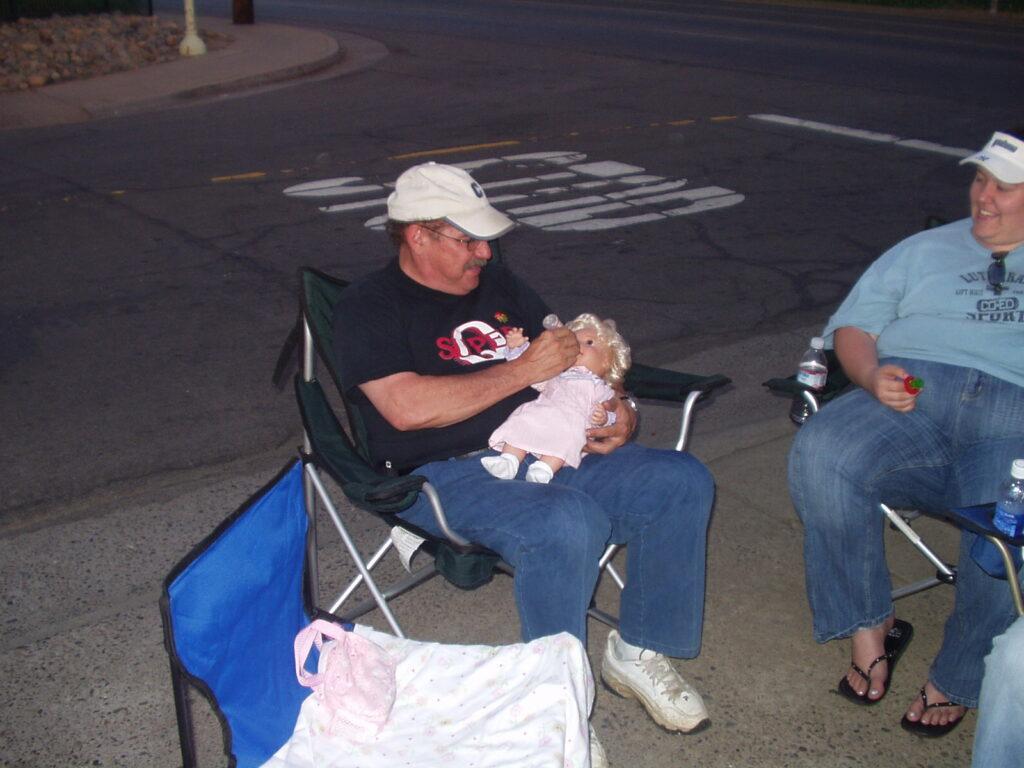 photo of Pastor Carl babysitting for Selena (2006)